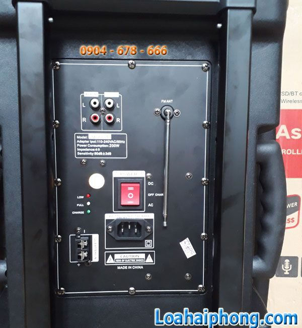 bảng mạch sau Loa kéo JBA-8900