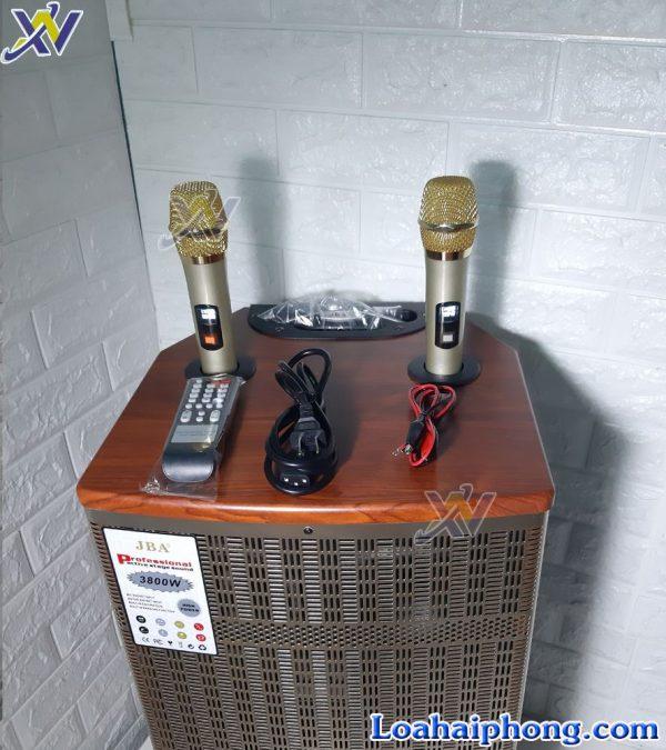Loa kéo JBA 505-C mic và phụ kiện đi kèm