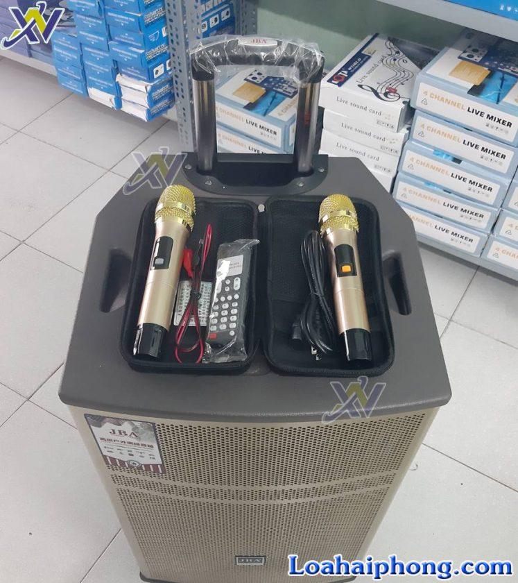 Loa keo JBA BK39 - 2 mic không dây và phụ kiện