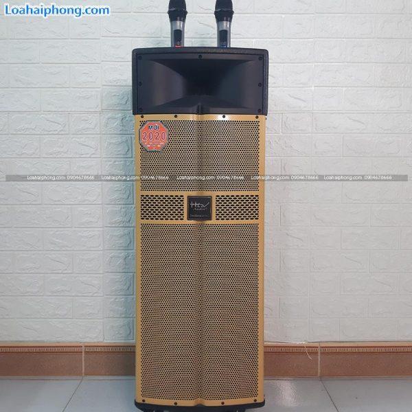 Loa kéo hlov F312 bass đôi 30, thùng gỗ